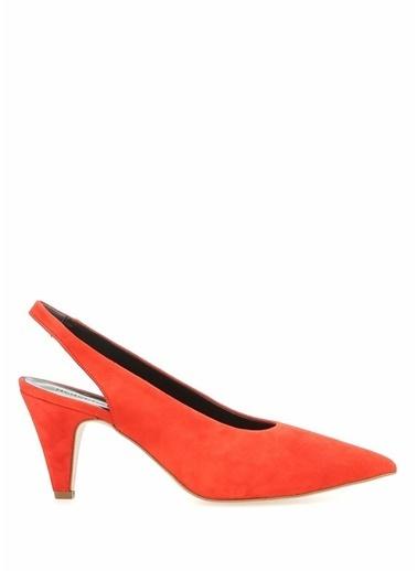 Rebecca Minkoff Hakiki Deri İnce Topuklu Ayakkabı Kırmızı